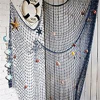 装飾用釣りネット、オーシャンビーチテーマ フィッシュネット ホームデコレーション 壁/テーブル装飾 海洋海賊テーマ パーティー装飾 US-18821-007-NET