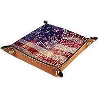小物トレー ボタントレー 国旗 アメリカ かっこいい 鍵 時計 アクセサリー メガネ 収納 小物入れ 出張 旅行 便利…