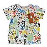 (ビッツ)BIT'Z 動物柄Tシャツ半袖/総柄/プリントT 80 ライトグレー