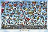 1000ピース ジグソーパズル 迷路探偵ピエール 気球の空 (50x75cm)