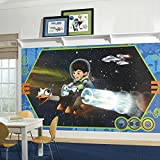 RoomMates JL1367M Miles From Tomorrowland XL Chair Rail Prepasted Mural 6' x 10.5' - Ultra-strippable [並行輸入品]
