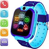 HuaWise Kids Smartwatch [SD Card Included], 1.54 inch Colorful Touch Screen Smartwatch for Children with Quick Dial, Camera a
