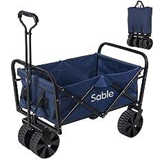 Sable キャリーカート アウトドア ワゴン キャリーワゴン 耐荷重100kg 108L大容量 折りたたみ式 手洗い可 SA-HF021