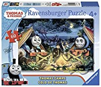 Ravensburger Thomas and Friends: Thomas Camps Glow-in-the-Dark Giant Floor Puzzle (60 Piece)