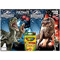 JurassicステッカーシーンPlus究極Book toカラーwith over 50ステッカー、フルカラーステッカーScenes 3と2 Pull Out Posters by BT