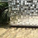 MAXYOYO 3D窓用フィルム 目隠しシート ガラスフィルム ステンドグラス プライバシーガラスフィルム 装飾フィルム ガラスシール 会議室引き戸浴室目隠し 断熱紫外線カット結露防止 無接着剤水で貼れる おしゃれ 再利用可能 (モザイクブロック)