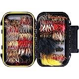 完成フライ フライフィッシング用 毛ばり フライ ケース付き 色々60/120本入りセット 渓流 トラウト釣り
