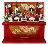 雛人形 ひな人形 雛 コンパクト収納飾り 親王飾り 美光作 ひな 新吉野 京箔屏風 h303-sb-sinyosino