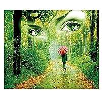 家のための美的な部屋の装飾アート、森林ダイヤモンド刺繍モザイククリスタル5Dクロスステッチダイヤモンド塗装Diyウォールステッカー装飾絵画、40×50センチ
