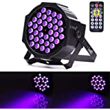 U`King LED Black Light 72W UV Lighting Par Lights Glow in The Dark Supplies Blacklight for Christmas and Birthday Party Weddi