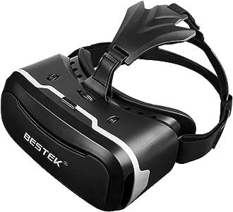 BESTEK VR 3Dメガネ VR ヘッドセット Glasses Box 日本製樹脂材料のレンズを採用 透明性が高くて視野がすっきり BTVR356BK
