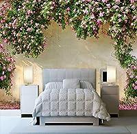 Mzznz 3D壁画壁紙リビングルーム風景森林風景壁紙自然壁画研究テレビ背景壁-250X175Cm