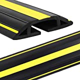 Eapele 4 ft Cable Protector Cord Cover for Floor,Heavy Duty PVC Duct Easy to Unroll,Prevent Trip Hazard for Home Office or Ou