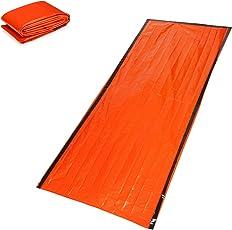 シュラフカバー 封筒型 寝袋 アウトドア キャンプ ハイキング 応急 スリーピングバッグ 熱損失防ぐ オレンジ