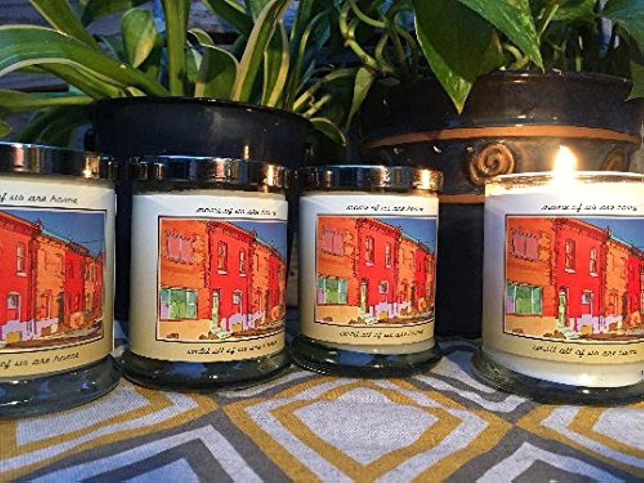 打倒香水褐色大豆手作りガラスPillar Candle ; Apple Spice , Frankincense、バニラ、または無香