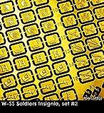 ラドミニチュア 1/16 第二次世界大戦 武装親衛隊隊員 記章セット2 プラモデル用パーツ RDM16PE05