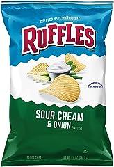 Ruffles Sour Cream and Onion Potato Chips, 184.2g