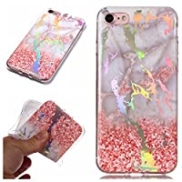 Moonmini Cell Phone Case for iPhone 7 iPhone 8, Ultra-Thin TPU Slim 電話ケーススリム 保護する Phone Cover Case Shockproof Armor Protector 電話ケーススリム Full Protective for iPhone 7 iPhone 8