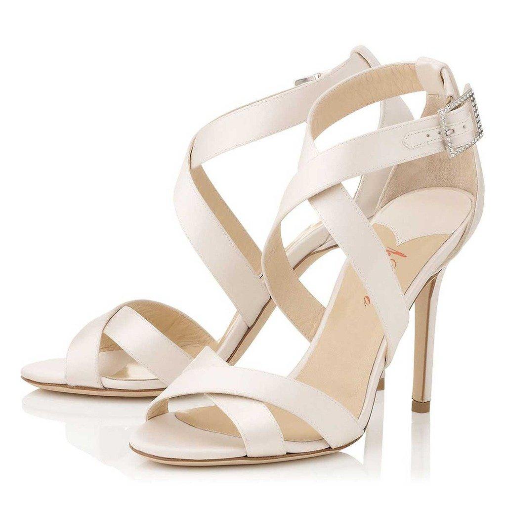 アマゾン | SHOFOOレディースクロスオープントゥサンダルヒール夏シューズ歩きやすい履きやすい靴ローヒールコンフォートサンダルウェディング/結婚式/ビーチ/通学/通勤「10cmヒール」 [並行輸入品] | サンダル 通販