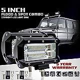 KaTur 5Inch 72W LEDライトバースポットビーム10800LLMオフロードフォグライトトラックピックアップジープSuv Atv Utv 12V 24V車の昼間運転の運転灯のためのLED駆動作業ランプ防水2パック - 3,985 円