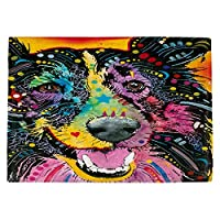 DIANOCHEキッチンPlaceマットby Dean Russo Smilingコリー犬 Set of 2 Placemats PM-DeanRussoSmilingCollieDog1