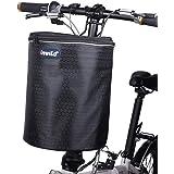 自転車かご 大容量 雪保護 防塵 耐荷重10KG 前カゴ 取り付け簡単 折りたたみ 防水 マウンテンバイク、折り畳み自転車、通勤車、電動車に最適