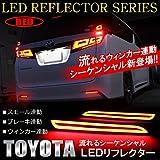 トヨタ カローラ フィールダー 120系 LED リフレクター ブレーキランプ テールランプ シーケンシャル テールライト ウィンカー連動 レッド