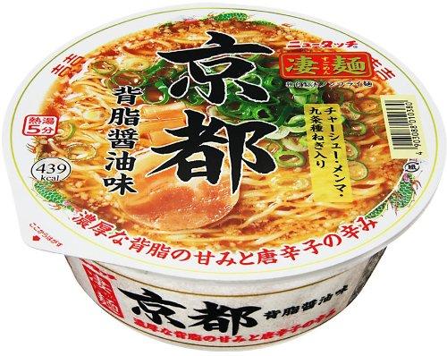 ニュータッチ 凄麺 京都背脂醤油味 124g×12個