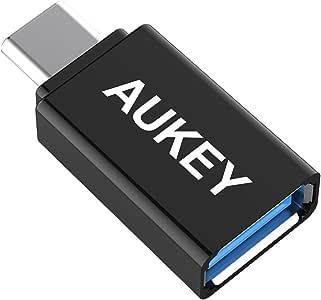AUKEY USB C to USB A 変換アダプタ Type cアダプタ 56Kレジス OTG機能対応 iPad Pro、MacBook Pro、Chromebook Pixel、Nexus 6P/5X、OnePlus 2に対応 高速転送可能 CB-A1