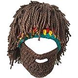 OUMEIOU Creative Winter Hat Beard Knitting Wool Hair Beanie Hat Knit Hat Winter Warm Hat Windproof Funny for Men & Women