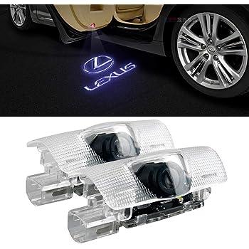 XZFLQ 2個入りのレクリスマーク30系LED投影灯車の終わりランプ車のドアランプ (Lexus002)