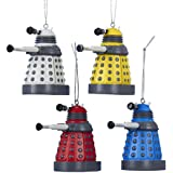 Kurt Adler Doctor Who Dalek Ornament Gift, 2.25-Inch, Set of 4