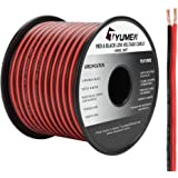 TYUMEN 100FT 14 Gauge 2pin 2 Color Red Black Cable Hookup Electrical Wire LED Strips Extension Wire 12V/24V DC Cable, 14AWG F
