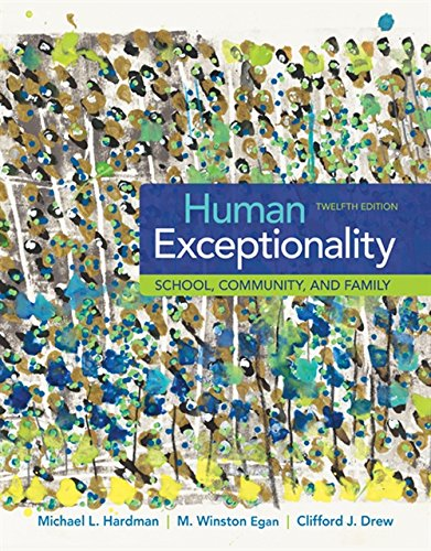 Download Human Exceptionality: School, Community, and Family 1305500970