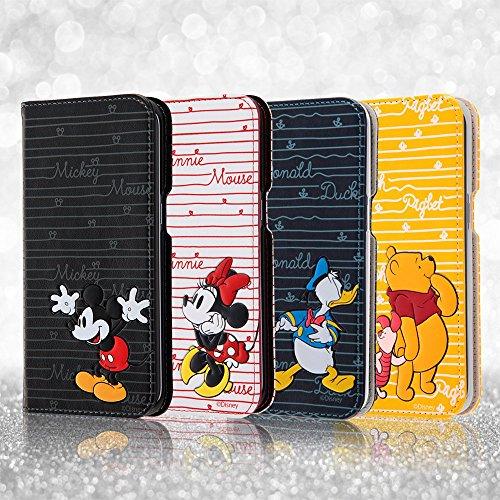 レイ・アウト Galaxy S7 edge ディズニー 手帳型ケース POPUP カーシヴ ミッキーマウス RT-DGS7ET/MK