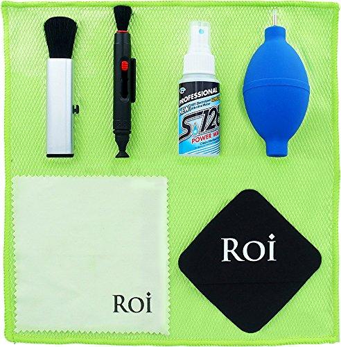 Roi (ロイ) PCクリーニングキット 9点セット[ クリーニングリキッド (特許取得100%電解アルカリイオン水)/ ダストブラシ / ジャンボブロアー / レンズペン / マイクロファイバークロス / クリーニングクロス / スエードクロス / 収納ポーチ / 使用説明書]