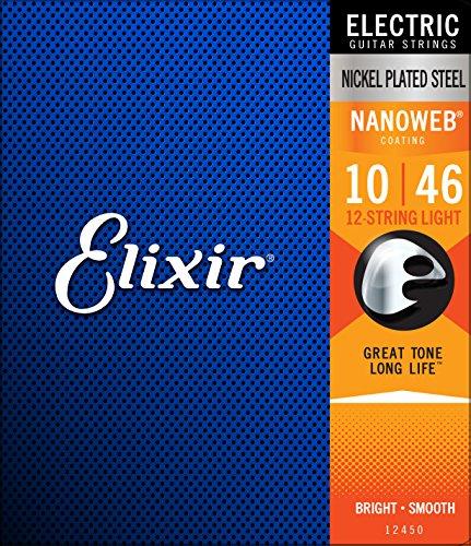Elixir エリクサー エレキギター弦 NANOWEB 12弦 Light .010-.046 #12450 【国内正規品】