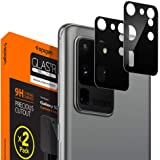 Spigen Galaxy S20 Ultra 用 カメラフィルム 保護 ギャラクシー S20 Ultra 用 カメラ レンズ ブラック 2枚入