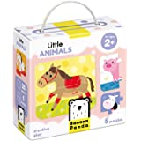 Banana Panda - Little Animals - Jigsaw Puzzle Set - includes 5 Beginner Puzzles for Kids Ages 2 Years and Up