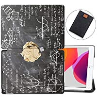 """MAITTAO Case for iPad 10.2 Inch 2019, Microfiber Lining Hard Back Shell with Auto Wake/Sleep, Slim Lightweight Trifold Smart Stand Cover for iPad 7th Generation 10.2"""" 2019,Creative Bulb 14"""