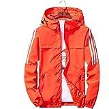Qingxian ジャケット メンズ ウィンドブレーカー コート テープ付き 軽量 防風 撥水 登山 スポーツ アウトドア カジュアル パーカー