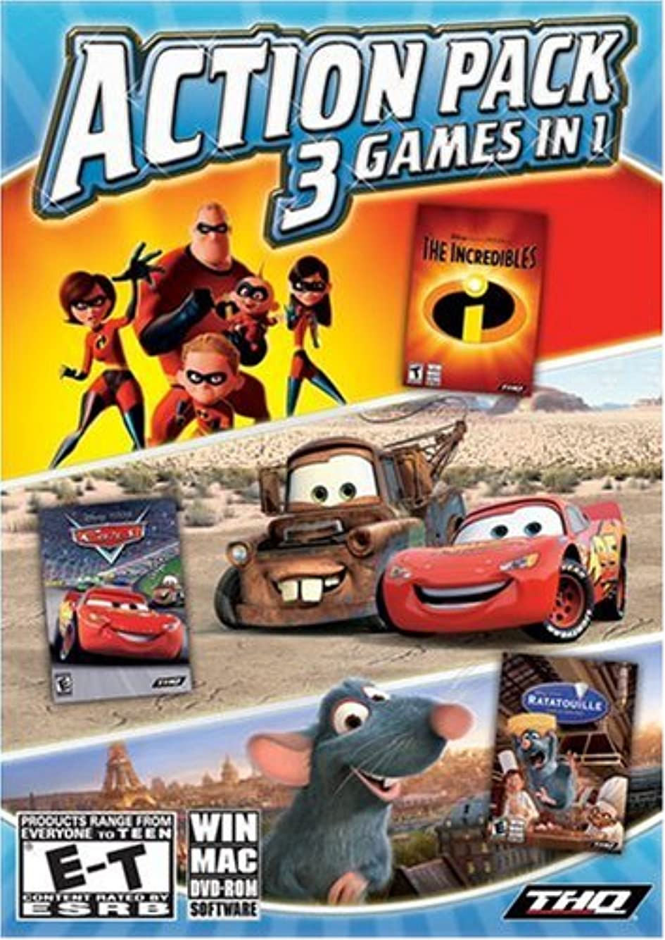 ジャンピングジャック月曜日誇張するDisney Pixar Collection: 3 Games in 1 (Incredibles / Cars / Ratatouille) (輸入版)