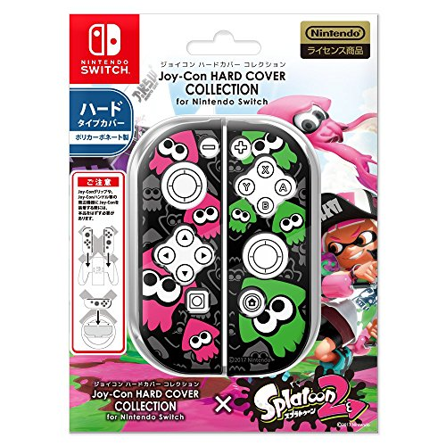 Joy-Con HARD COVER COLLECTION for Nintendo Switch (splatoon2)Type-B【カバー色:ブラック】 任天堂公式ライセンス商品