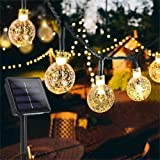 Garden Solar Lights, 50 LED 24ft 8 Modes Waterproof String Lights Outdoor Fairy Lights Globe Crystal Balls Decorative Lightin