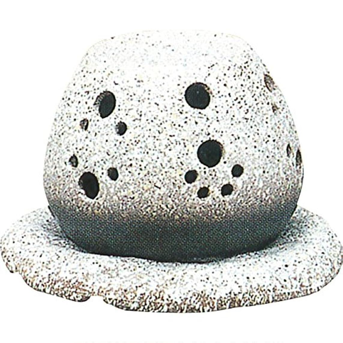 降臨分布クローゼット茶香炉 : 常滑焼 山房窯 ロウソクタイプ茶香炉 (白皿付?ロウソク1ヶ付)?ル35-05
