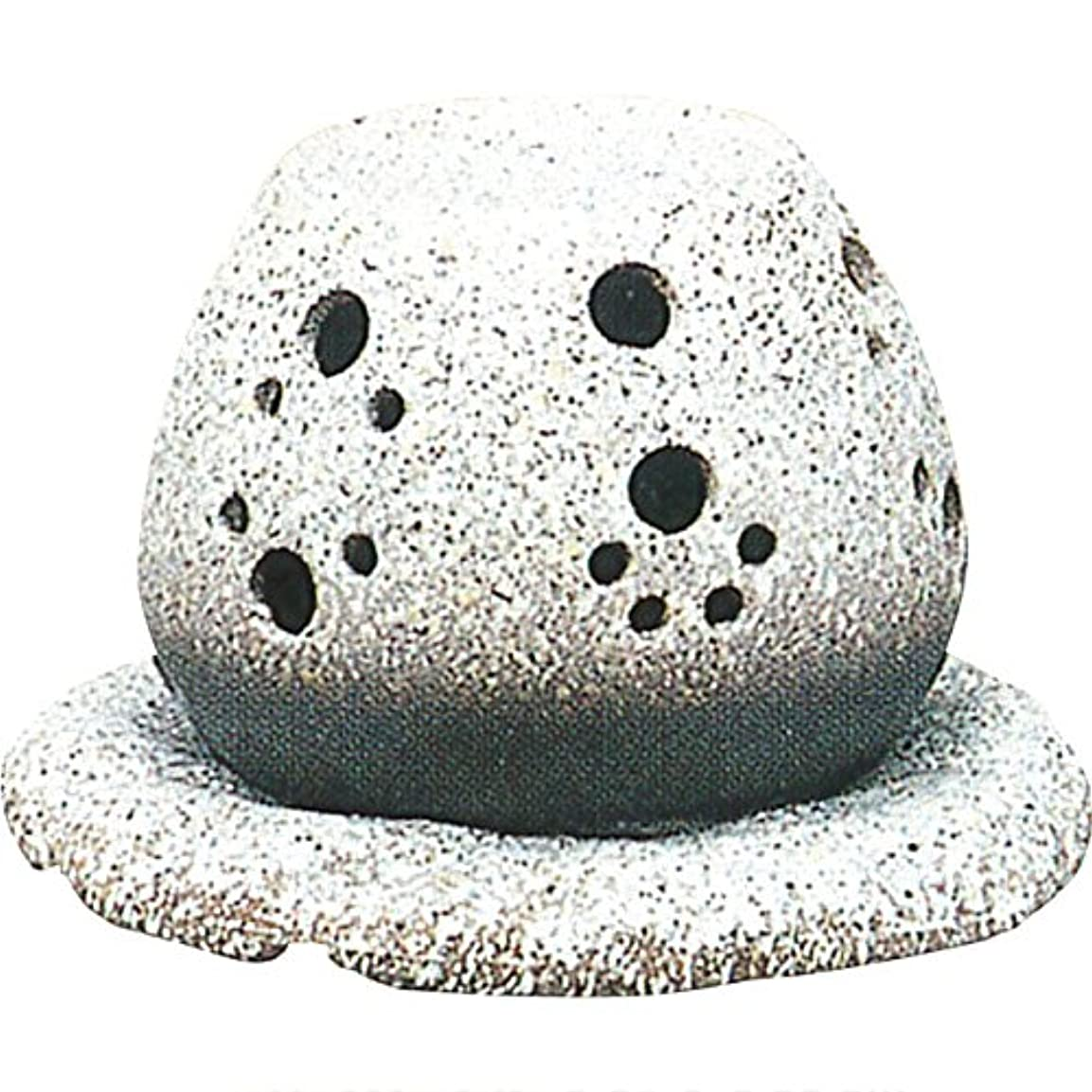 完全に乾く生理独裁茶香炉 : 常滑焼 山房窯 ロウソクタイプ茶香炉 (白皿付?ロウソク1ヶ付)?ル35-05