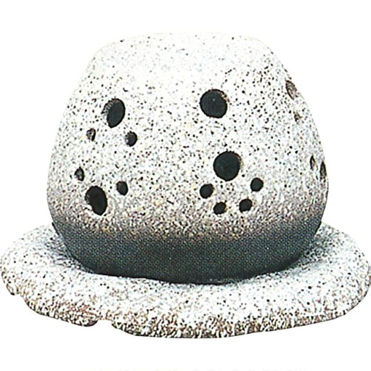 失望糞ごみ茶香炉 : 常滑焼 山房窯 ロウソクタイプ茶香炉 (白皿付?ロウソク1ヶ付)?ル35-05