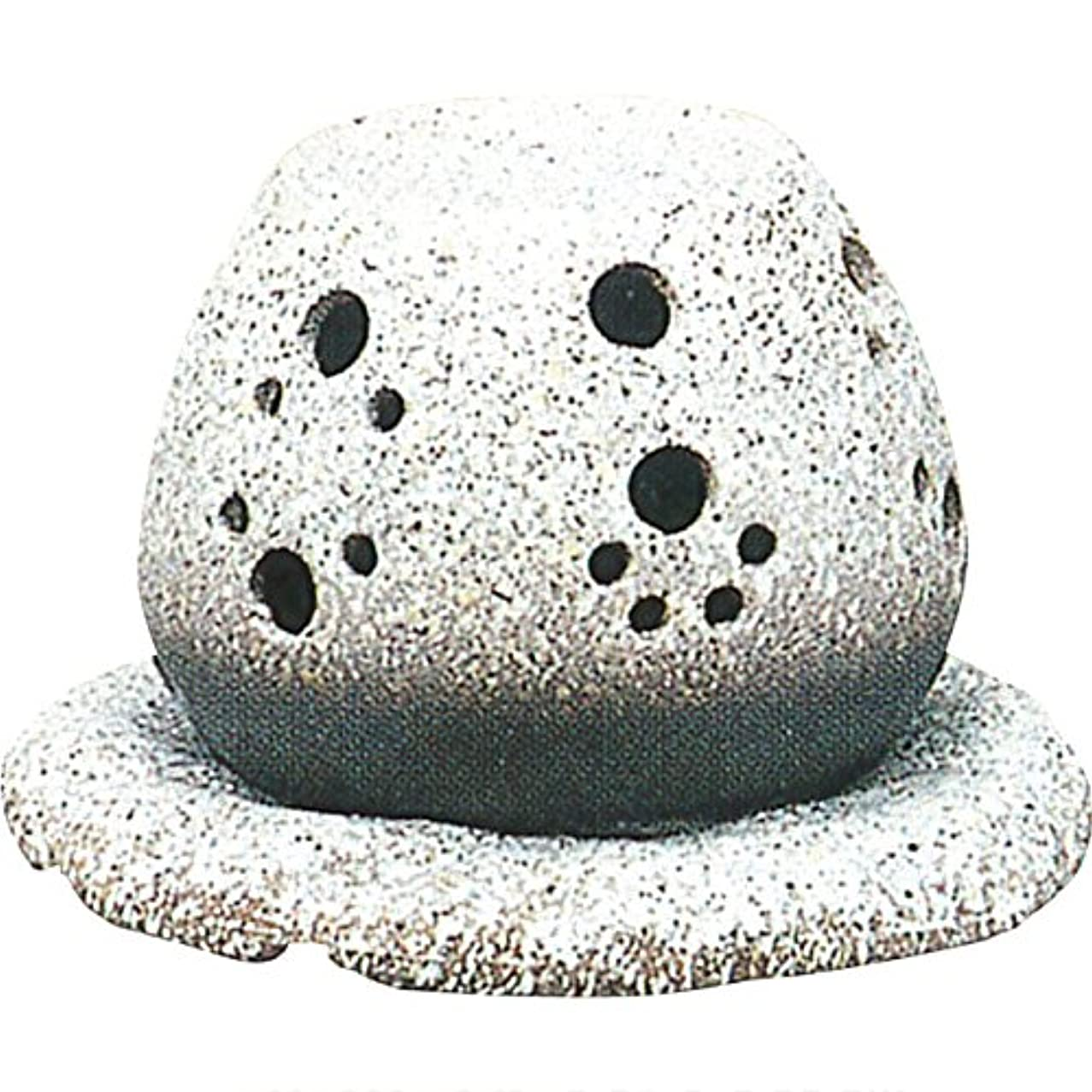 部分処理提唱する茶香炉 : 常滑焼 山房窯 ロウソクタイプ茶香炉 (白皿付?ロウソク1ヶ付)?ル35-05