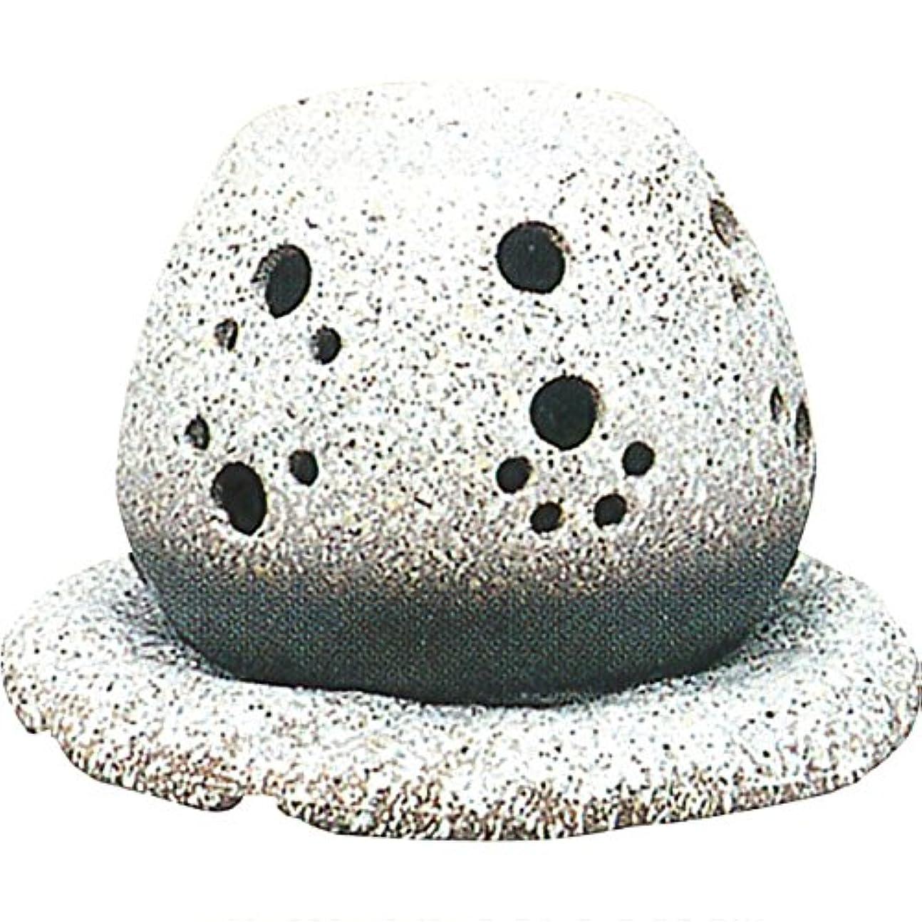 バクテリア嵐ハンドブック茶香炉 : 常滑焼 山房窯 ロウソクタイプ茶香炉 (白皿付?ロウソク1ヶ付)?ル35-05