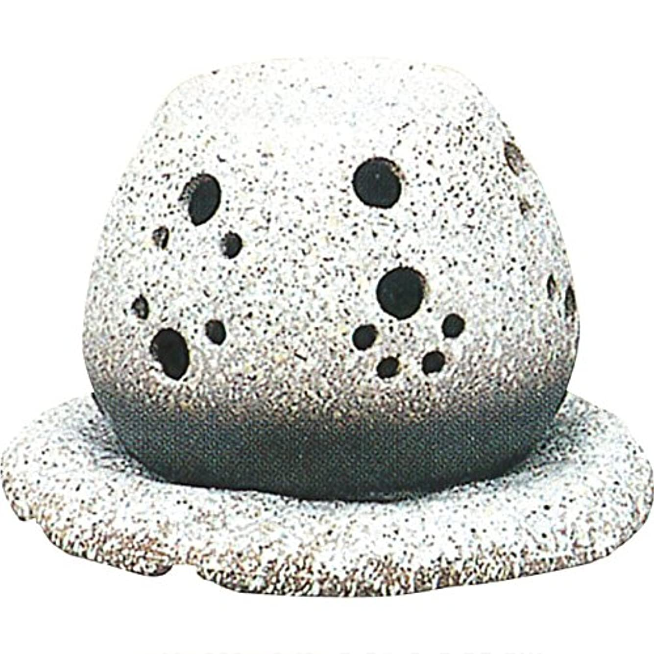 決定するしがみつく不可能な茶香炉 : 常滑焼 山房窯 ロウソクタイプ茶香炉 (白皿付?ロウソク1ヶ付)?ル35-05
